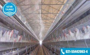 مه پاش مرغداری با سیستم تحت فشار