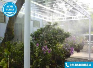 مه پاش نازلی گلخانه ای آذر تجهیز mist maker greenhouse